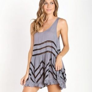 {Free People} Voile and Lace Trapeze Slip